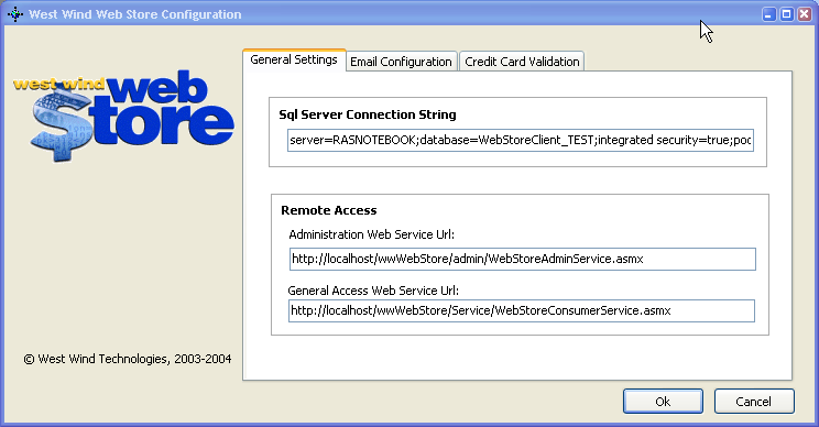 Setting up the Offline Application - West Wind Web Store  NET